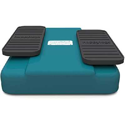 Happylegs - Exerciseur de gymnastique passive des jambes pour Seniors, Jeunes et Tout Public. Ideal pour Réhabilitation. La machine de marche assise aide à améliorer et à stimuler la circulation de retour. (Bleu)