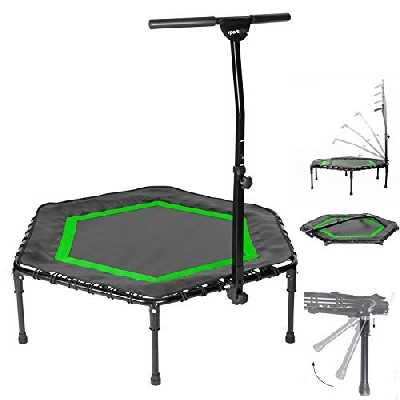 Sportplus Trampoline de Fitness/Gymnastique - Pliable - Système de Cordes Bungee - Ø 126 cm - Parfait pour l'intérieur - Poids de l'Utilisateur jusqu'à 130 kg - Sécurité Contrôlée par Le Tüv