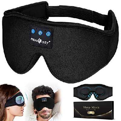 Masque de Sommeil Bluetooth,Écouteurs Bluetooth,Casque Anti Bruit pour Dormir Cadeaux Anniversaire pour Homme Femme Masque de Nuit,Hand Make Respirant Ultra-Douce Cache Yeux Ergonomique